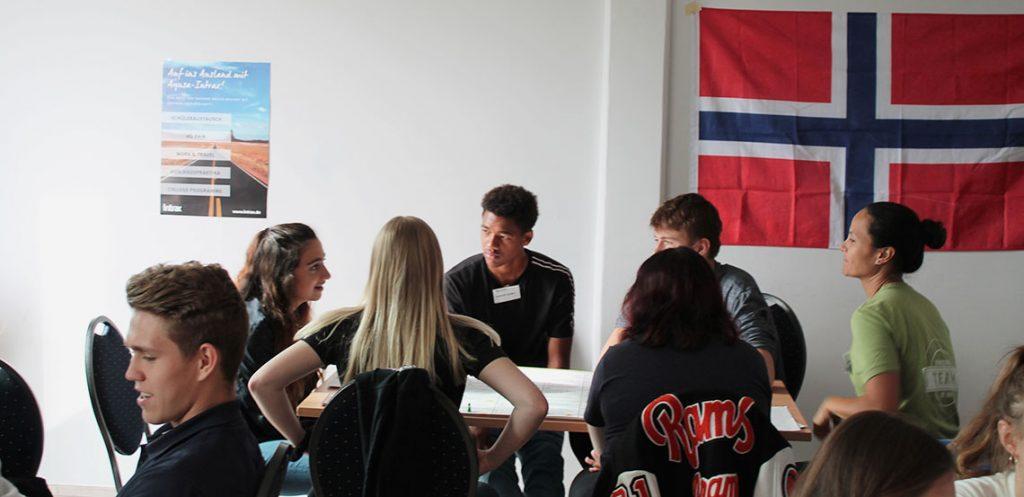 Workshops beim High School Returnee-Treffen.