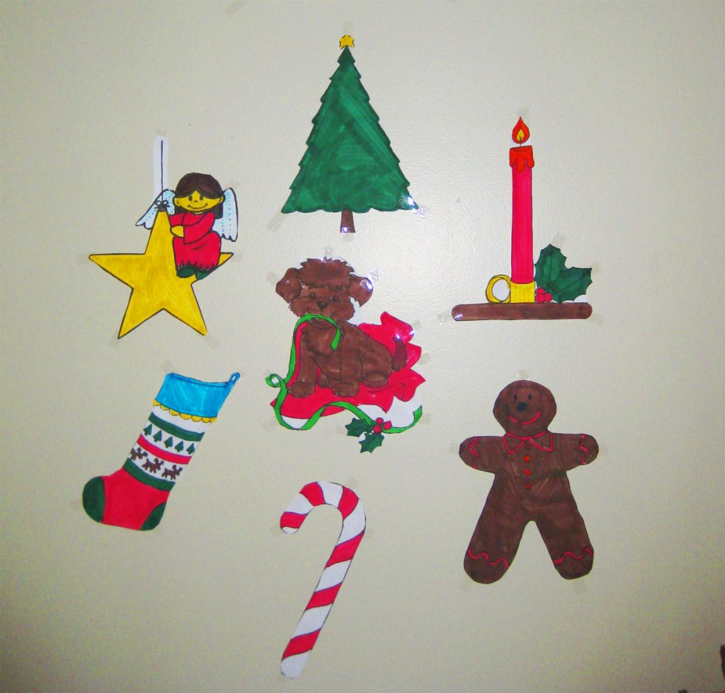 Stocking, Candy Cane und andere Formen vom Adventsbasteln