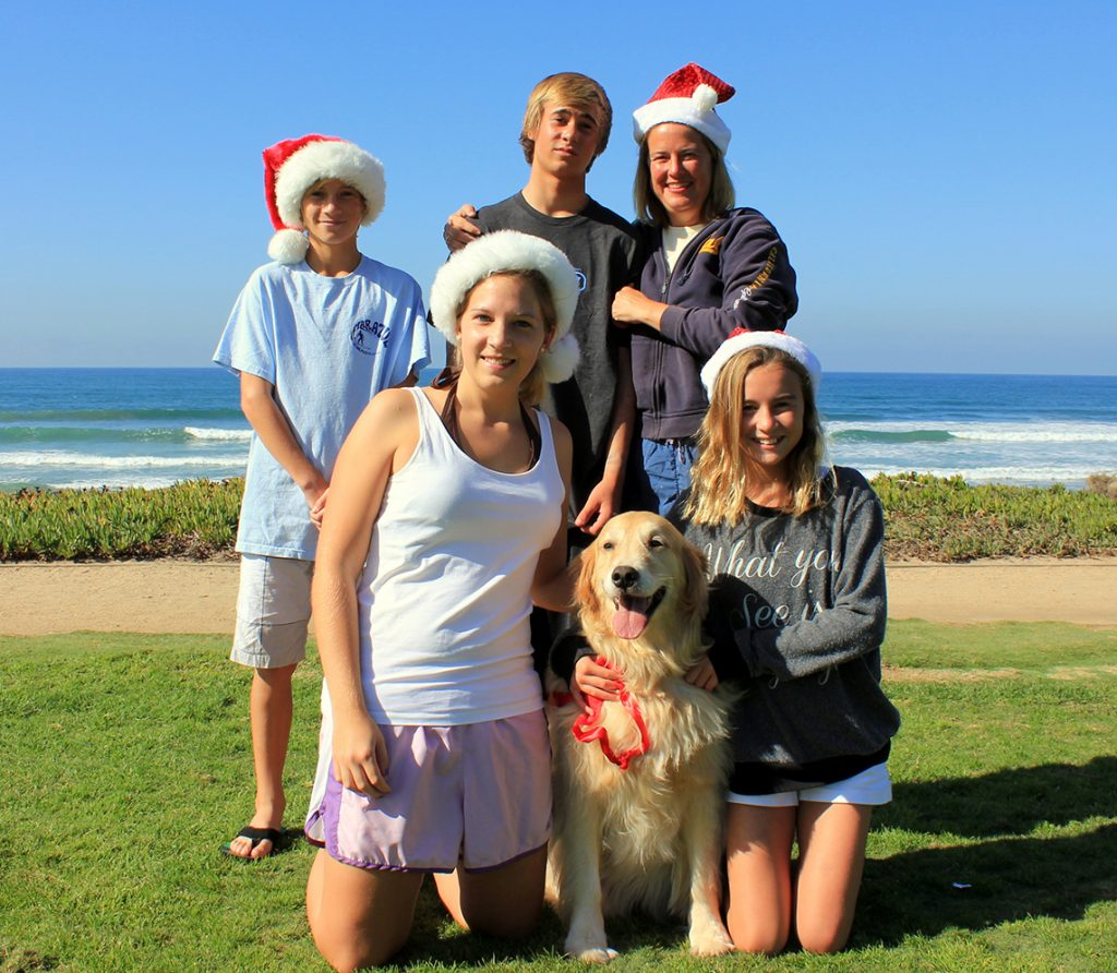 Familie, Weihnachten, Strand
