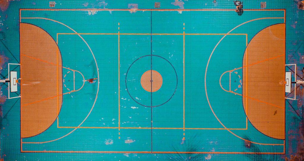 basketball court von oben