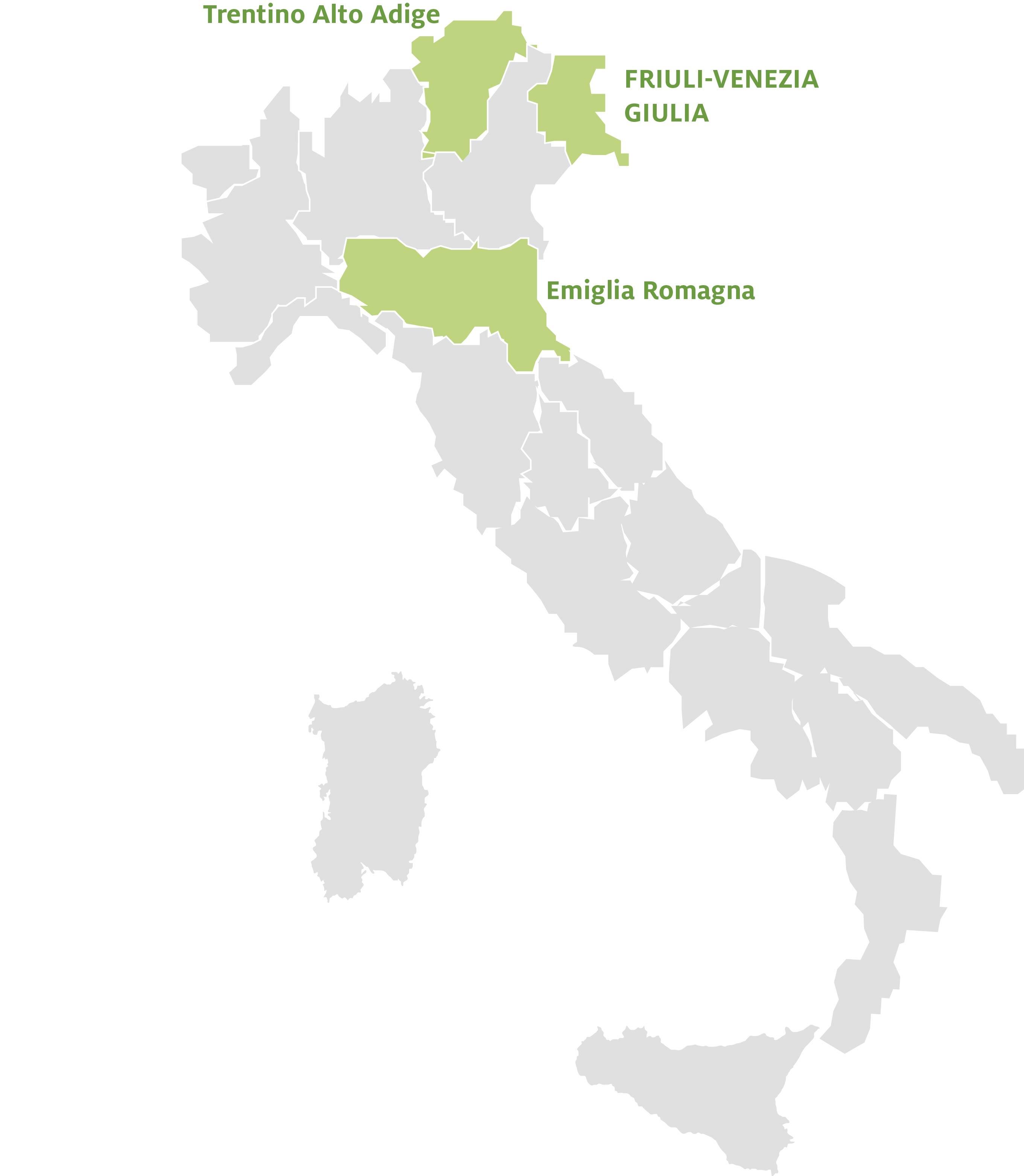 Karte Italien Regionen.Schüleraustausch Italien Regionswahl Ayusa Intrax