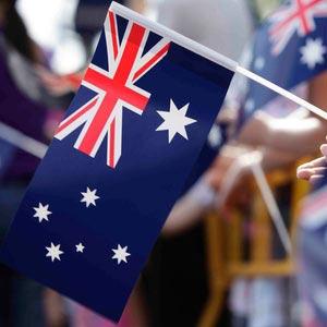 Auslandspraktikum Australien, Step by Step, Restzahlung, Flagge