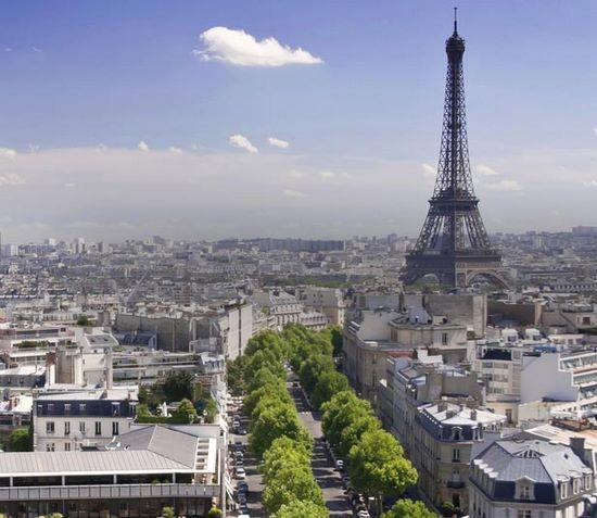 Auslandsprakitkum, Frankreich, Paris, Stadt, Eiffelturm, Himmel