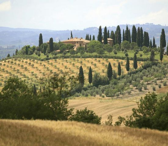 Schueleraustausch, Italien, Toscana, Landschaft, Felder