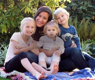 Au pair USA, Au pair Picknick mit Kindern, Park