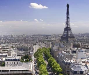 Auslandsprakitkum Frankreich, Paris, Stadt, Eiffelturm, Himmel