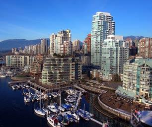 Auslandspraktikum Kanada, Vancouver, Skyline, Hafen