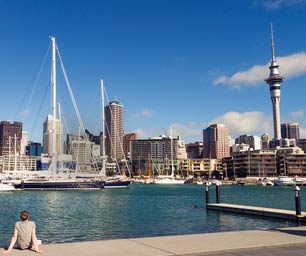 Auslandspraktikum, Neuseeland, Auckland, Stadt, Skyline