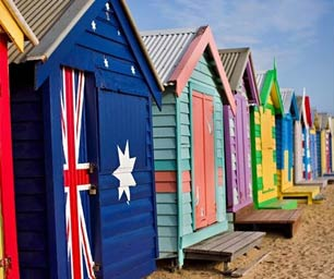 College-Programm Australien Hütten Strand