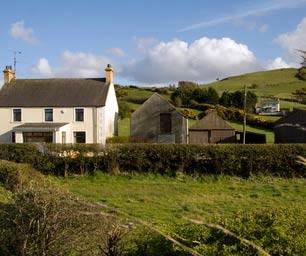 Irland, Laenderinfo, Haus, Landschaft
