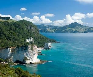 Neuseeland, Laenderinfo, Kueste, Klippen