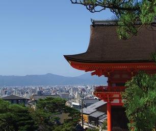 Schüleraustausch Japan, Blick von Tempel