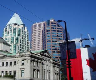 Sprachreisen Kanada, Vancouver, Flagge, Stadt