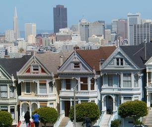 Sprachreisen USA, San Francisco, Häuserblock