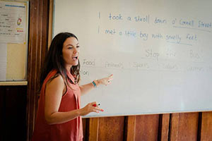 Schüleraustausch Irland, Ferien-Programm, Tafel