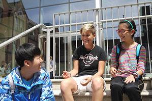 Schüleraustausch Irland, Ferien-Programm, Treppe