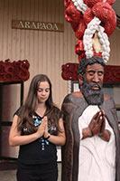 schueleraustausch-neuseeland-statue-beten