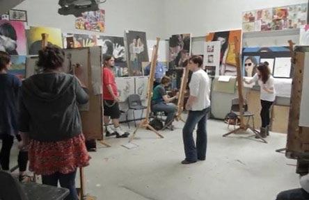 Schüleraustausch England, Schulwahl, Farnham Sixth Form College, Kunstraum