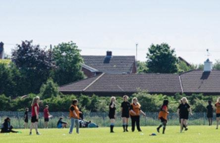 Schüleraustausch England, Schulwahl, Mark Rutherford School, Sportgelände