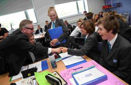 Schüleraustausch England, Schulwahl, Swanage School, Klassenzimmer