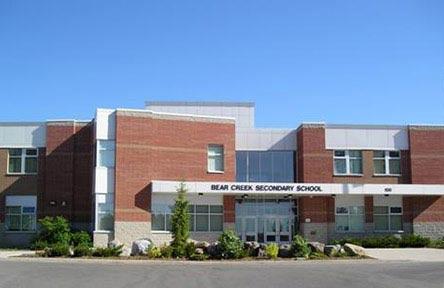 Schüleraustausch Kanada, Schulwahl, Bear Creek Secondary School, Eingang