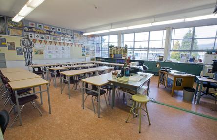 Schüleraustausch, Kanada, Schulwahl, Burnaby North, Klassenzimmer