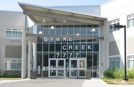 schueleraustausch-kanada-schulwahl-byrne-creek-secondary-school-eingang