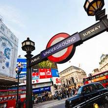 Praktikum England, London, U-Bahn, Schild