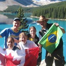 Farmstay Kanada, Gruppe, Flaggen, See