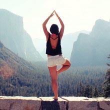 Au Pair USA, Yoga, Landschaft, stehen