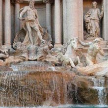 Italien, Trevi-Brunnen
