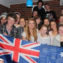 Schueleraustausch, Australien, Gruppe, Flagge