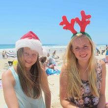 Schueleraustausch Neuseeland, Freundinnen, Strand, Weihnachten