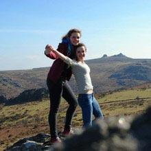 Schüleraustausch England, Freundinnen, Landschaft