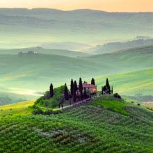 Schüleraustausch Italien, Landschaft, Haus, Weinberge