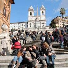 Schueleraustausch, Italien, Treppe, Kathedrale