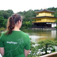 Schüleraustausch Japan, Tempel, See, Wegflieger