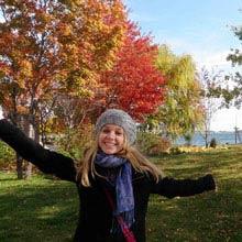 Schueleraustausch, Kanada, Maedchen, Herbst