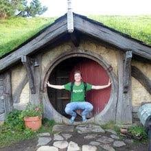 Schueleraustausch, Neuseeland, Junge, Hobbithaus