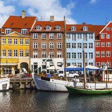 Schüleraustausch Schweden, Kopenhagen, Häuser, bunt