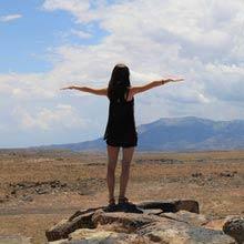 Work und Travel USA, Mädchen, Landschaft, stehen