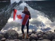 Schüleraustausch Kanada Blog, Linn, Fahne, Wasser, Berge